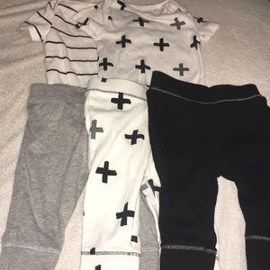 Bundle of Cloud Island 3 onesie 3 pants 3-6 month.